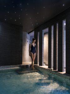 bassin - eau chaude - thermes - bains